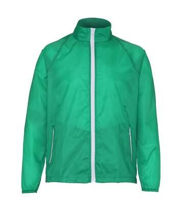2786 Mens Contrast Lightweight Windcheater Shower Proof Jacket (Red/ Black) - UTRW2501