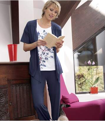 Women's Navy Stylish Trousers