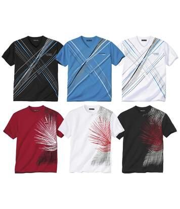 6er-Pack T-Shirts mit tollem Design