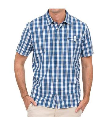 Chemise bleue/blanche homme Oxbow Cuadro
