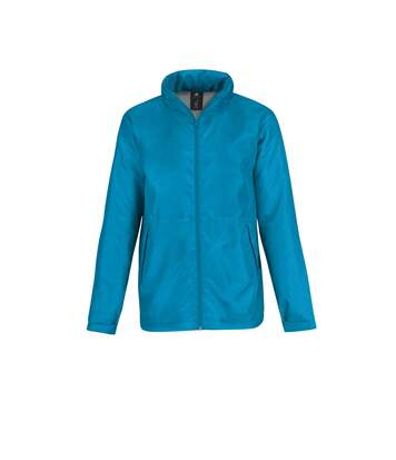 B&C Mens Multi Active Hooded Fleece Lined Jacket (Atoll/ Warm Grey) - UTRW4830