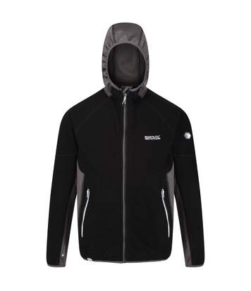 Regatta Mens Kniver Hooded Stretch Fleece (Black/Magnet Grey) - UTRG4627