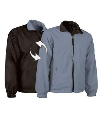 Veste polaire réversible - Homme - REF GLASGOW - noir - gris