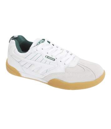 Hi-Tec Mens Non Marking Squash Classic Leather Trainers (White) - UTDF912