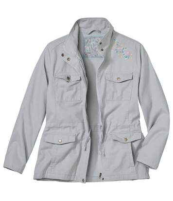 Women's Sage Embroidered Safari Jacket