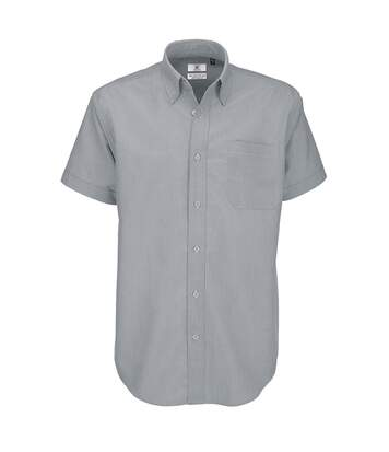 B&C Mens Oxford Short Sleeve Shirt / Mens Shirts (Silver Moon) - UTBC106