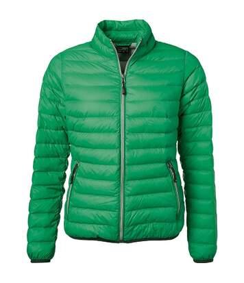 Veste doudoune matelassée duvet - JN1139 - vert - Femme