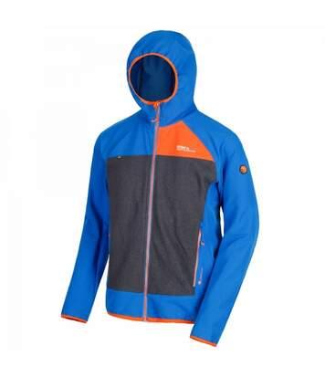 Regatta Mens Carpo Hybrid Hooded Jacket (Sky Blue/Granite Grey) - UTRG3664