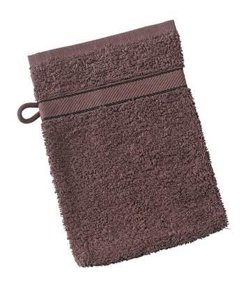 Gant de toilette - éponge - MB435 - marron chocolat