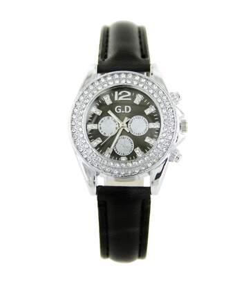 Montre Femme GIORGIO bracelet Cuir Noir