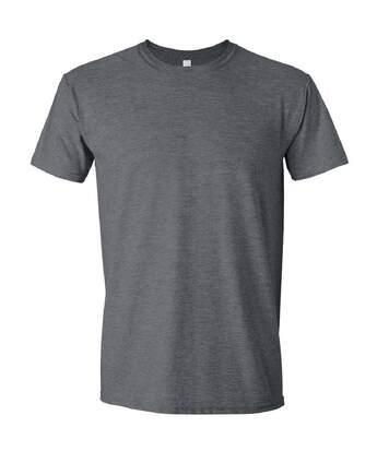 Gildan Mens Short Sleeve Soft-Style T-Shirt (Dark Heather) - UTBC484