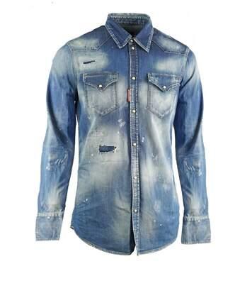 Chemise en jean stretch   -  Dsquared2 - Homme