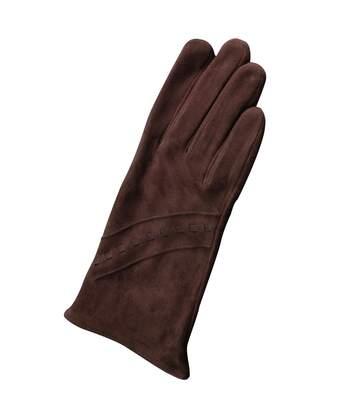 Eastern Counties Leather Womens/Ladies Sian Suede Gloves (Brown) - UTEL273