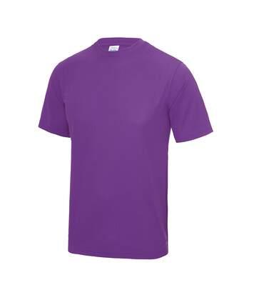 Just Cool Mens Performance Plain T-Shirt (Magenta Magic) - UTRW683