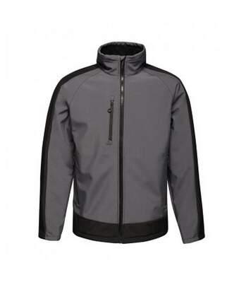 Regatta  Mens Contrast Three Layer Printable Soft Shell Jacket (Seal Grey/Black) - UTPC3318