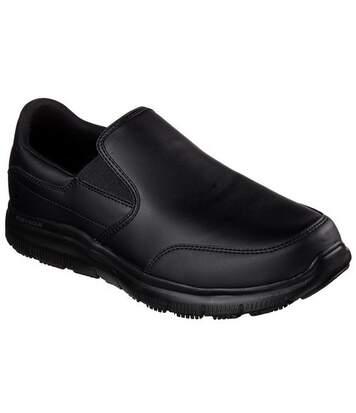 Skechers - Chaussures En Cuir Souple Advantage Sr Bronwood - Homme (Noir) - UTFS5088