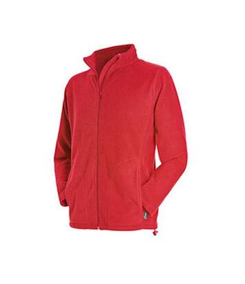 Stedman Mens Active Full Zip Fleece (Scarlet Red) - UTAB292