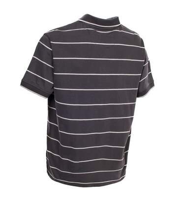 Trespass Mens Samani Short Sleeve Striped Polo Shirt (Khaki) - UTTP2443
