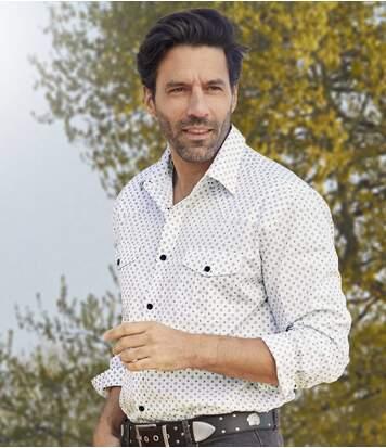 Mintás fehér ing