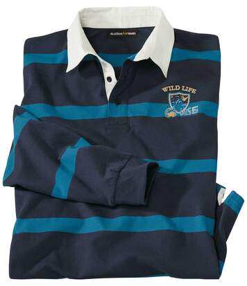 Gestreiftes Poloshirt im Rugby-Look Wild Life