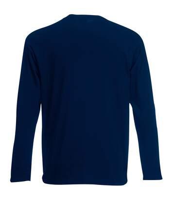 Mens Value Long Sleeve Casual T-Shirt (Midnight Blue) - UTBC3902