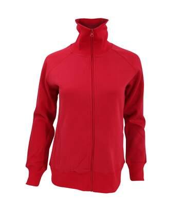 SOLS Womens/Ladies Soda Full Zip Active Sweat Jacket (Red) - UTPC405