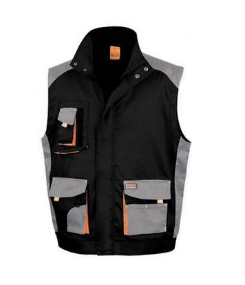 Result Work-Guard Mens Lite Gilet (Black/Grey) - UTPC3334