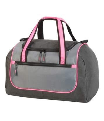 Sac de sport - sac de voyage - 36 L - 1577 - gris et rose