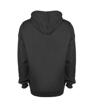 FDM Unisex Contrast Hooded Sweatshirt / Hoodie (300 GSM) (Navy/Fire Red) - UTBC2025
