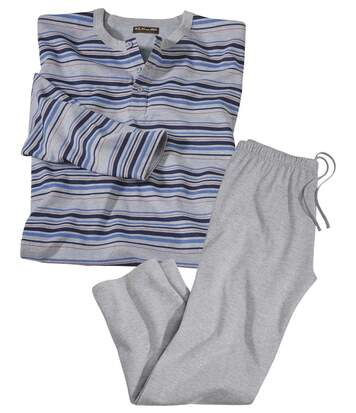 Men's Striped Pyjama Set