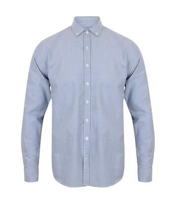 Front Row Mens Supersoft Long Sleeve Shirt (Light Blue) - UTRW5392