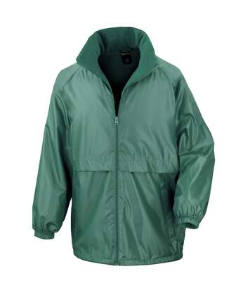 Result Mens Core Adult DWL Jacket (With Fold Away Hood) (Bottle Green) - UTBC896