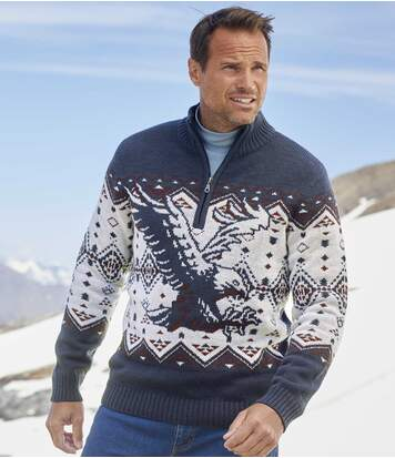 Jacquard-Pullover Snow Exploration