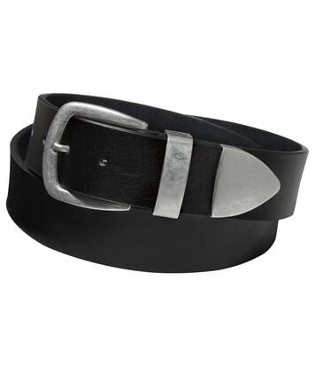 Men's Black Split Leather Belt