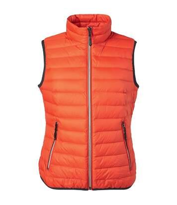 Bodywarmer duvet - JN1137 - orange - Femme