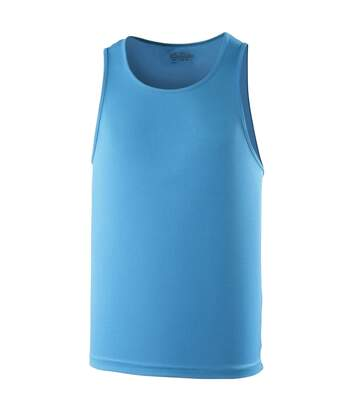 Just Cool Mens Sports Gym Plain Tank / Vest Top (Charcoal) - UTRW687