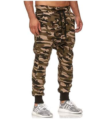 Jogging sarouel camouflage Jogging P501 vert camo
