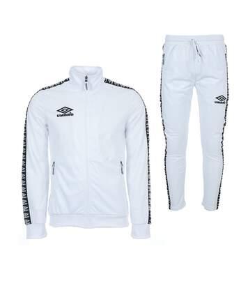 Ensemble de Survêtement Blanc Homme Umbro Street Knit Suit Authentic