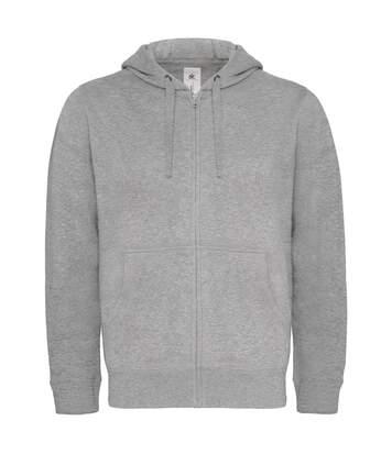 Sweat-shirt à capuche zippé - homme - WM647 - gris