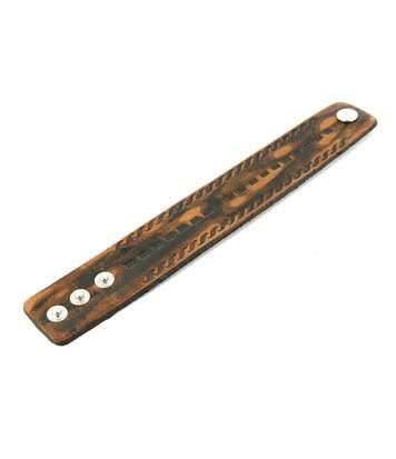 Bracelet d'Homme synthétique Marron M'H