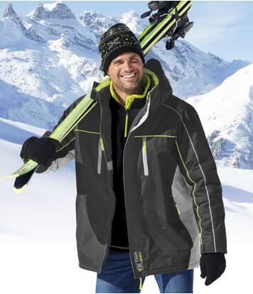 Men's Grey High-Performance Ski Parka