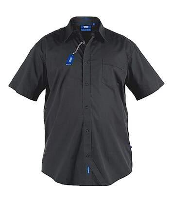 Duke Mens Aeron Kingsize Short Sleeve Classic Regular Shirt (Black) - UTDC196