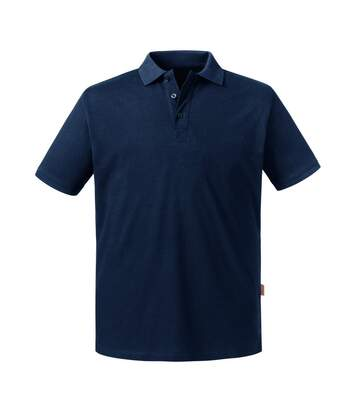 Russell Mens Pure Organic Polo (French Navy) - UTBC4664