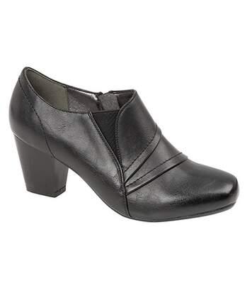 Boulevard - Chaussures De Ville Zippées À Talon - Femme (Noir) - UTDF1317