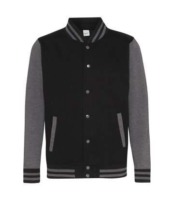 Awdis Unisex Varsity Jacket (Jet Black/Charcoal) - UTPC2083