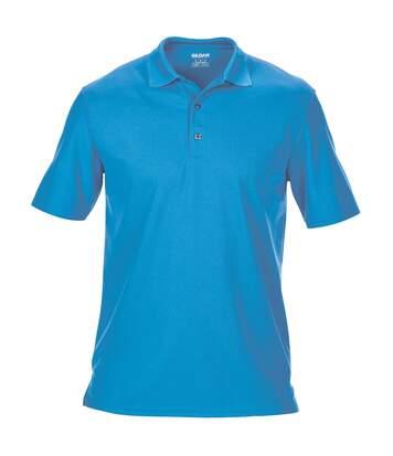 Gildan Mens Double Pique Short Sleeve Sports Polo Shirt (Sapphire) - UTRW4504