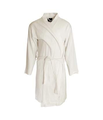 Foxbury Mens Waffle Texture Cotton Dressing Gown/Robe (White) - UTN1055