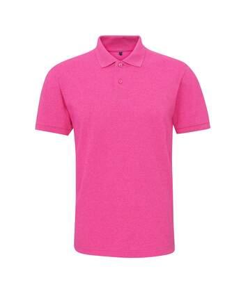 Asquith & Fox Mens Twisted Yarn Polo (Pink Melange) - UTRW6213
