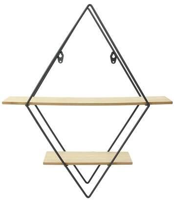Etagère industrielle losange en bois et métal 46 cm