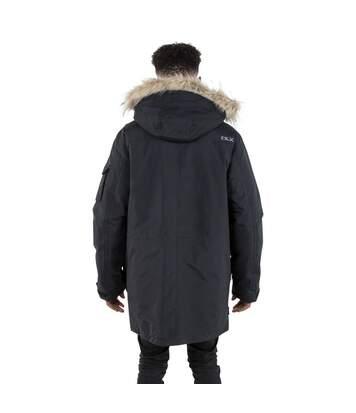 Trespass Mens Pixilation Deluxe Hooded Weatherproof Rain Jacket (Black) - UTTP4533
